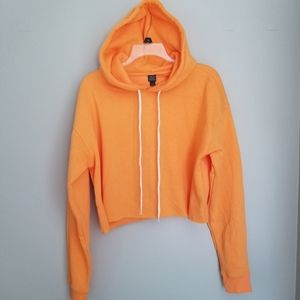 Wildfable hooded crop top sweatshirt  Sz L orange